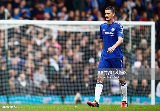Nemanja Matic of Chelsea leaves the pitch after being shown a red card during the Barclays Premier League match between West Ham United and Chelsea...