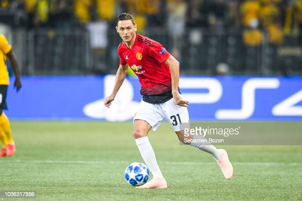 Nemanja Matic of Manchester during the Champions League match between Young Boys Berne and Manchester United at Stade de Suisse Wankdorf on September...