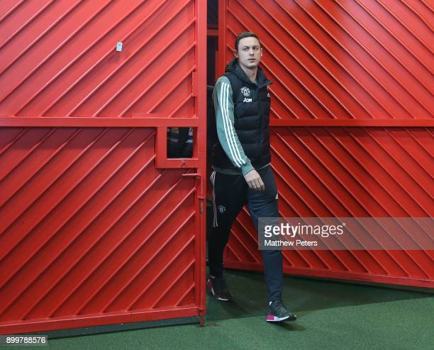 Nemanja Matic of Manchester United arrives ahead of the Premier League match between Manchester United and Southampton at Old Trafford on December 30...