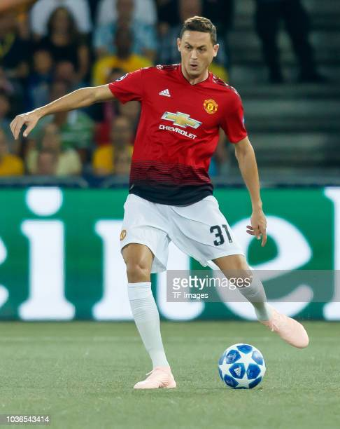 Nemanja Matic of Manchester United controls the ball during the UEFA Champions League Group H match between BSC Young Boys and Manchester United at...