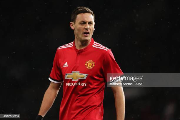Nemanja Matic of Manchester United during the FA Cup Quarter Final match between Manchester United and Brighton Hove Albion at Old Trafford on March...