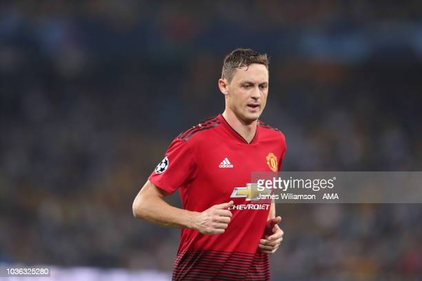 Nemanja Matic of Manchester United during the Group H match of the UEFA Champions League between BSC Young Boys and Manchester United at Stade de...
