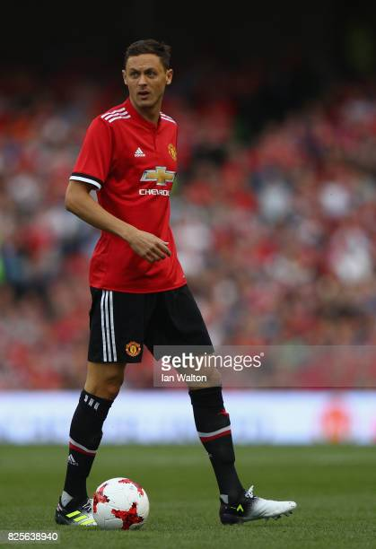 Nemanja Matic of Manchester United during the International Champions Cup match between Manchester United and Sampdoria at Aviva Stadium on August 2...