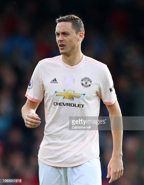 Nemanja Matic of Manchester United during the Premier League match between AFC Bournemouth and Manchester United at Vitality Stadium on November 03...