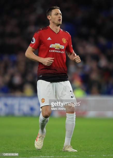 Nemanja Matic of Manchester United during the Premier League match between Cardiff City and Manchester United at Cardiff City Stadium on December 22...