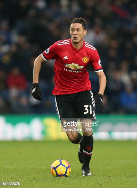Nemanja Matic of Manchester United during the Premier League match between West Bromwich Albion and Manchester United at The Hawthorns on December 17...