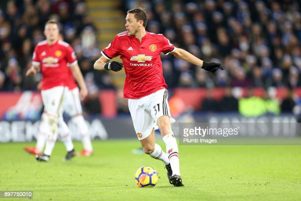 Nemanja Matic of Manchester United during the Premier League match between Leicester City and Manchester United at King Power Stadium on December...
