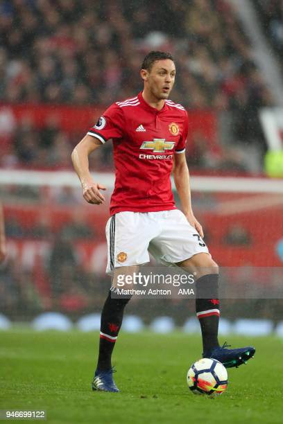 Nemanja Matic of Manchester United during the Premier League match between Manchester United and West Bromwich Albion at Old Trafford on April 15...