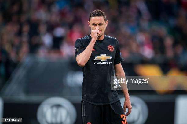 Nemanja Matic of Manchester United during the UEFA Europa League group L match between AZ Alkmaar and Manchester United at Cars Jeans stadium on...