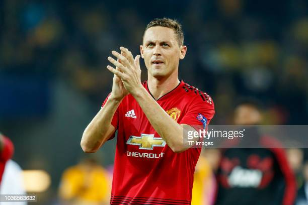Nemanja Matic of Manchester United gestures after the UEFA Champions League Group H match between BSC Young Boys and Manchester United at Stade de...