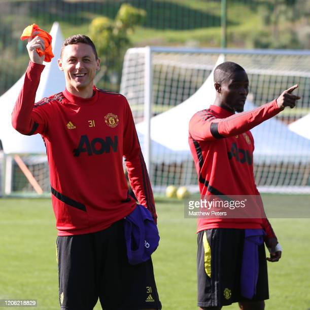 Nemanja Matic of Manchester United in action during a first team training session on February 14 2020 in Malaga Spain