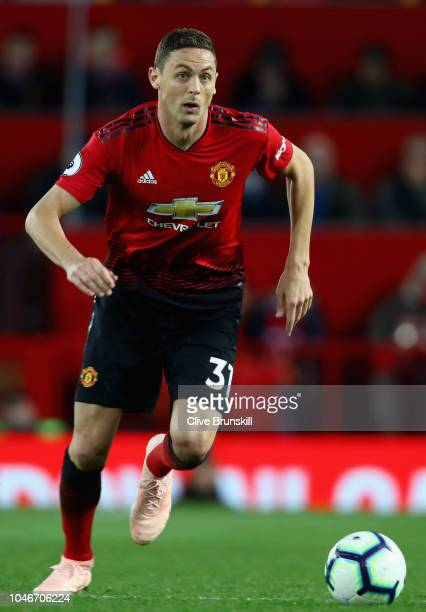 Nemanja Matic of Manchester United in action during the Premier League match between Manchester United and Newcastle United at Old Trafford on...