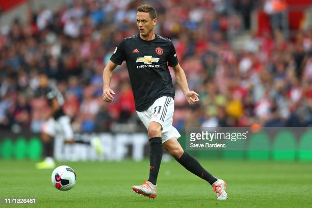 Nemanja Matic of Manchester United in action during the Premier League match between Southampton FC and Manchester United at St Mary's Stadium on...