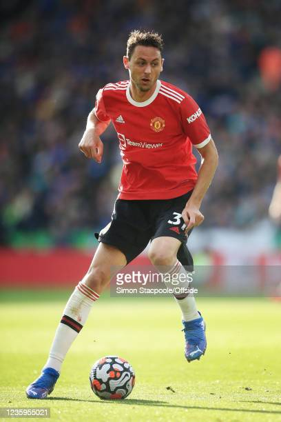 Nemanja Matic of Manchester United in action during the Premier League match between Leicester City and Manchester United at The King Power Stadium...