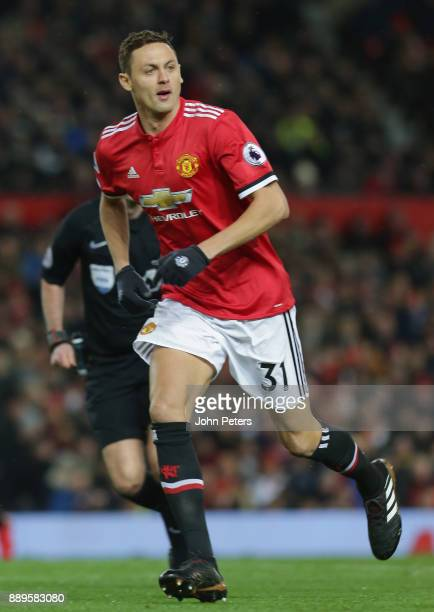 Nemanja Matic of Manchester United in action during the Premier League match between Manchester United and Manchester City at Old Trafford on...
