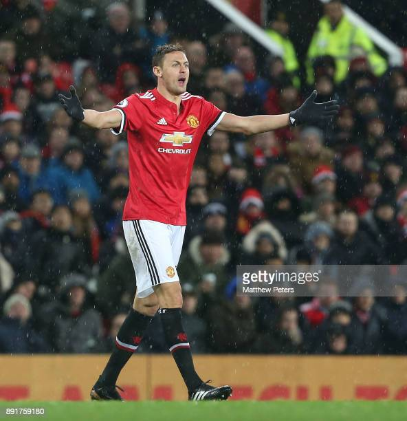 Nemanja Matic of Manchester United in action during the Premier League match between Manchester United and AFC Bournemouth at Old Trafford on...