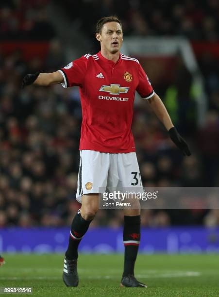 Nemanja Matic of Manchester United in action during the Premier League match between Manchester United and Southampton at Old Trafford on December 30...