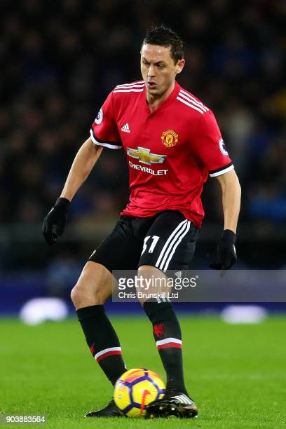 Nemanja Matic of Manchester United in action during the Premier League match between Everton and Manchester United at Goodison Park on January 1 2018...