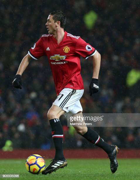 Nemanja Matic of Manchester United in action during the Premier League match between Manchester United and Stoke City at Old Trafford on January 15...