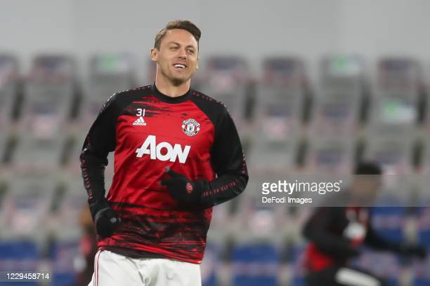 Nemanja Matic of Manchester United looks on prior to the UEFA Champions League Group H stage match between Istanbul Basaksehir and Manchester United...