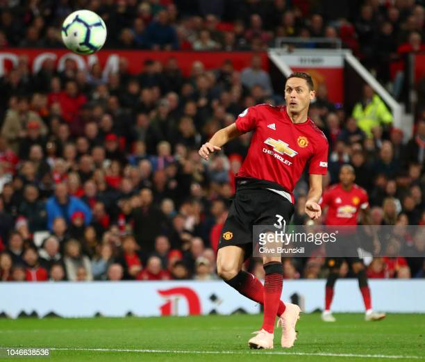 Nemanja Matic of Manchester United shoots and misses during the Premier League match between Manchester United and Newcastle United at Old Trafford...