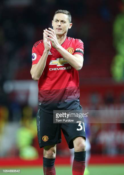 Nemanja Matic of Manchester United walks off after the Premier League match between Manchester United and Everton FC at Old Trafford on October 28...