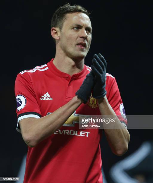 Nemanja Matic of Manchester United walks off after the Premier League match between Manchester United and Manchester City at Old Trafford on December...