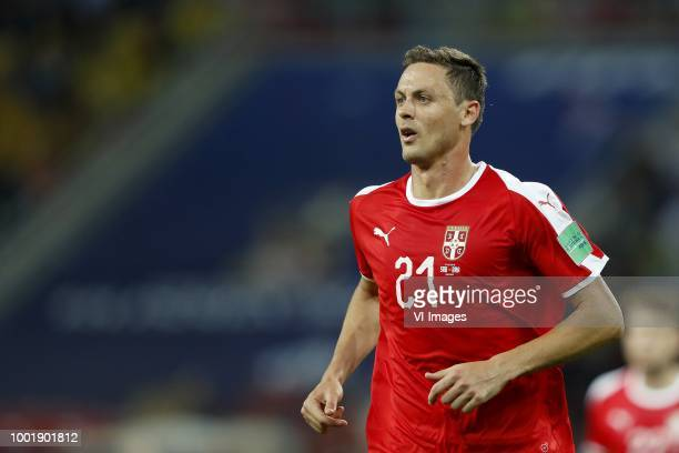 Nemanja Matic of Serbia during the 2018 FIFA World Cup Russia group E match between Serbia and Brazil at the Otkrytiye Arena on June 27 2018 in...