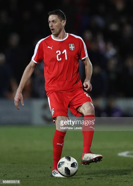 Nemanja Matic of Serbia in action during the International Friendly match between Nigeria and Serbia at The Hive on March 27 2018 in Barnet England