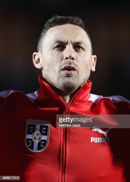 Nemanja Matic of Serbia pictured ahead of the International Friendly match between Nigeria and Serbia at The Hive on March 27 2018 in Barnet England
