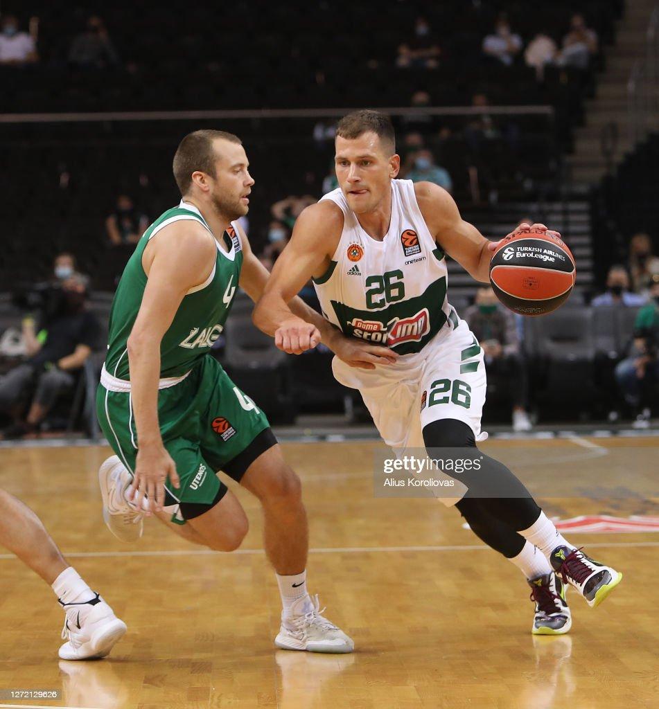 Nemanja Nedovic, #26 of Panathinaikos OPAP Athens competes with Lukas... News Photo - Getty Images