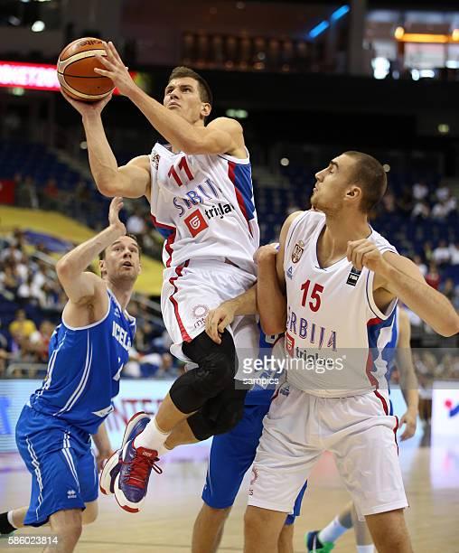 Nemanja Nedovic , Nikola Milutinov , Logi Gunnarsson Euro Basket 2015 : Serbia - Iceland