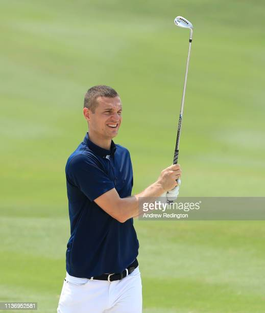 Nemanja Vidić former Manchester United and Serbia footballer in action during the Pro Am event prior to the start of the Maybank Championship at the...