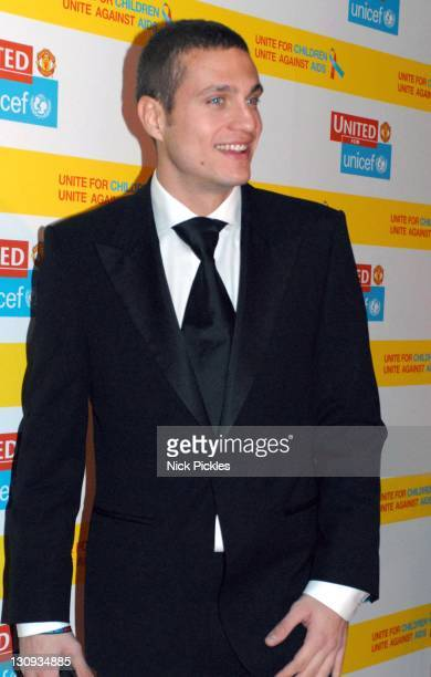 Nemanja Vidic during United for UNICEF Gala Dinner Arrivals at Old Trafford Manchester United Football Club in Manchester Great Britain