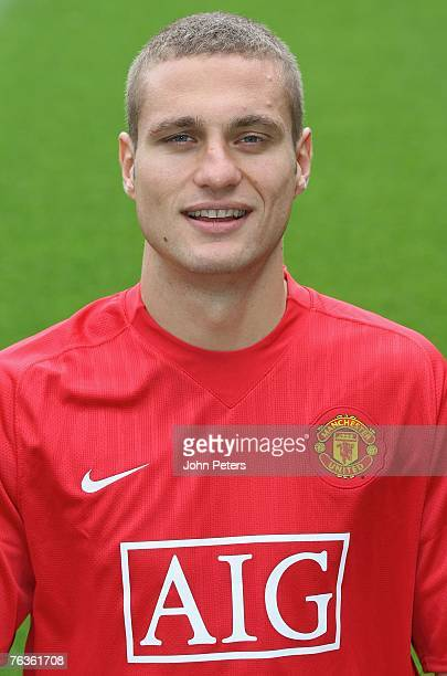 Nemanja Vidic of Manchester United poses during the club's official annual photocall at Old Trafford on August 28 2007 in Manchester England