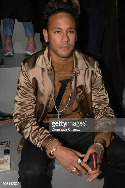 Nemar attends the Louis Vuitton Menswear Fall/Winter 20182019 show as part of Paris Fashion Week on January 18 2018 in Paris France