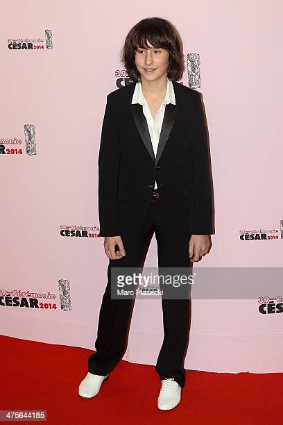 Nemo Schiffman arrives for the 39th Cesar Film Awards 2014 at Theatre du Chatelet on February 28 2014 in Paris France