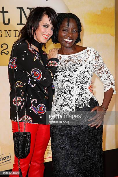Nena and Auma Obama attend the 1st Act Now Jugend Award on November 02 2015 in Berlin Germany