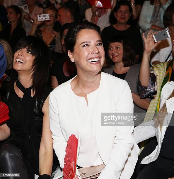 Nena and Desiree Nosbusch attend the Minx by Eva Lutz show during the MercedesBenz Fashion Week Berlin Spring/Summer 2016 at Brandenburg Gate on July...