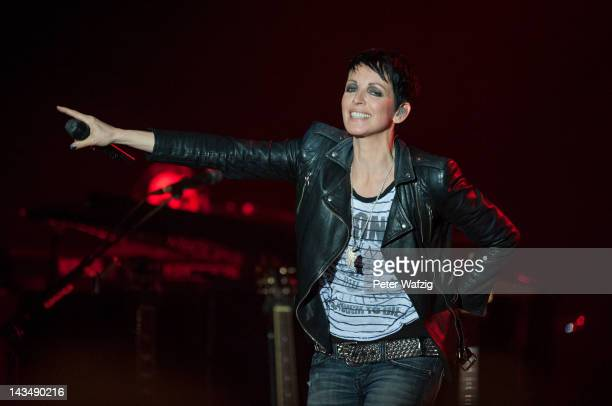 Nena performs on stage at the MitsubishiElectricHall on April 27 2012 in Duesseldorf Germany