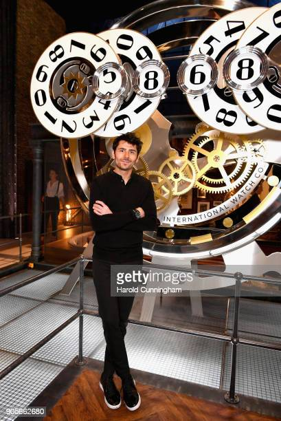 Nenad Mlinarevic visits the IWC booth during the Maison's launch of its Jubilee Collection at the Salon International de la Haute Horlogerie on...