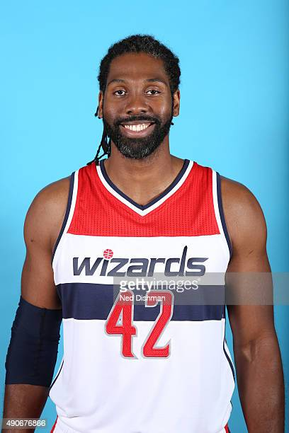Nene Hilario of the Washington Wizards poses for a photo during 2015 media day at the Verizon Center on May 18 2015 in Washington DC NOTE TO USER...
