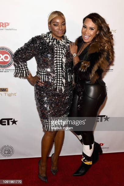 NeNe Leakes and Chanita Foster pose backstage at the 2019 Super Bowl Gospel Celebration at Atlanta Symphony Hall on January 31, 2019 in Atlanta,...