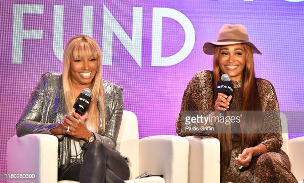 NeNe Leakes and Cynthia Bailey onstage during 2019 A3C Festival & Conference at AmericasMart on October 10, 2019 in Atlanta, Georgia.