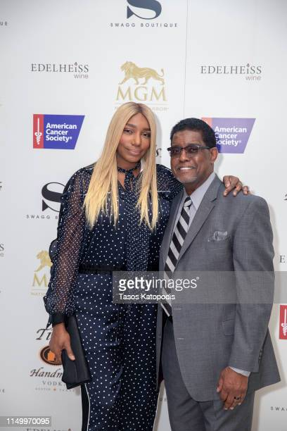 NeNe Leakes and Greg Leakes at the New SWAGG Retail Store opening at MGM National Harbor on May 17, 2019 in Oxon Hill, Maryland.