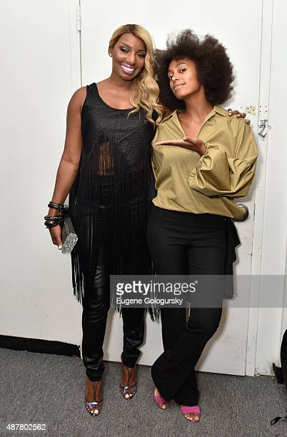 NeNe Leakes and Solange Knowles attend the Karigam show during Spring 2016 New York Fashion Week at The Gallery Skylight at Clarkson Sq on September...