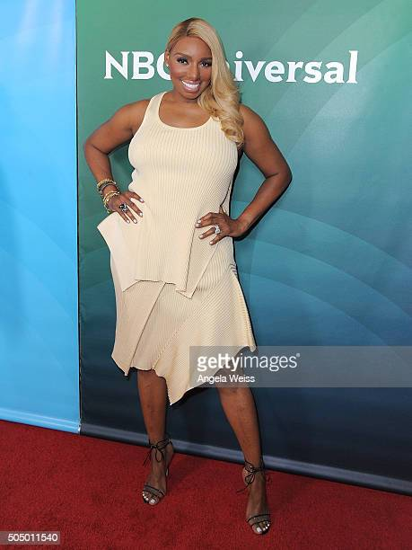 NeNe Leakes arrives at the 2016 Winter TCA Tour - NBCUniversal Press Tour Day 2 at Langham Hotel on January 14, 2016 in Pasadena, California.