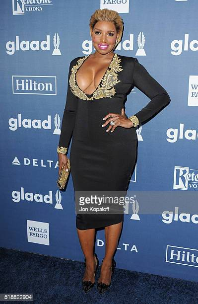 NeNe Leakes arrives at the 27th Annual GLAAD Media Awards at The Beverly Hilton Hotel on April 2 2016 in Beverly Hills California