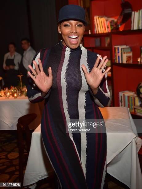Nene Leakes attends Marlo Hampton Dinner Celebration at Kaisers Restaurant on February 3 2018 in Sandy Springs Georgia