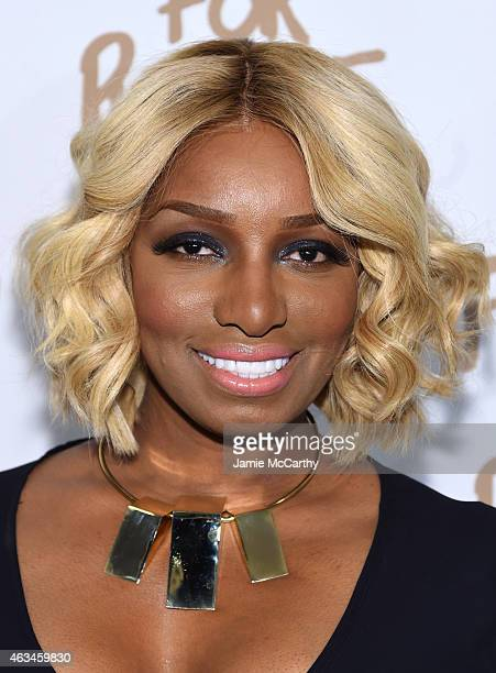 NeNe Leakes attends Naomi Campbell's Fashion For Relief Charity Fashion Show during Mercedes-Benz Fashion Week Fall 2015 at The Theatre at Lincoln...